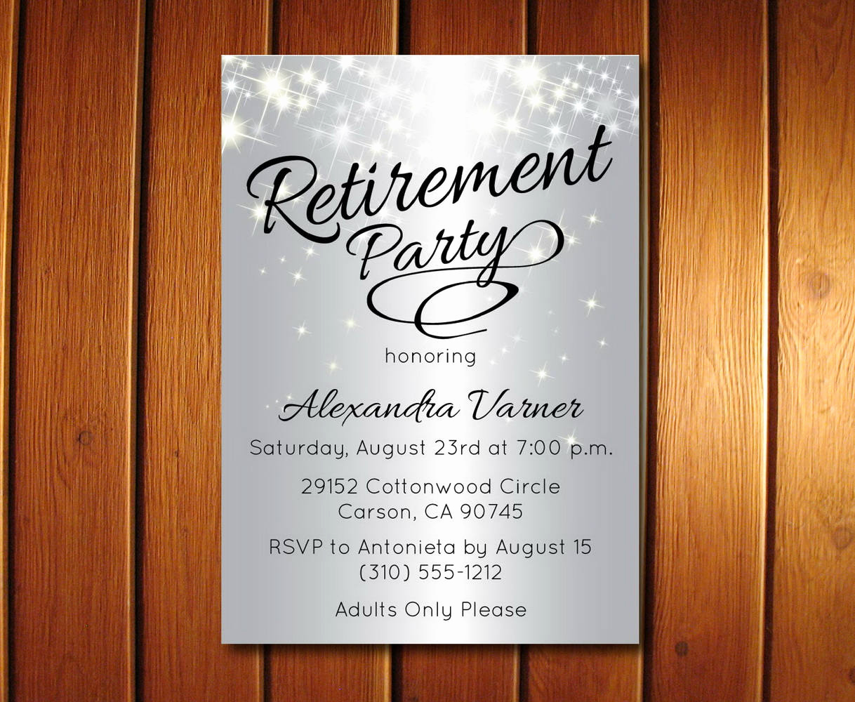Invitation for Retirement Party Lovely Silver Retirement Party Invitation Elegant Retirement