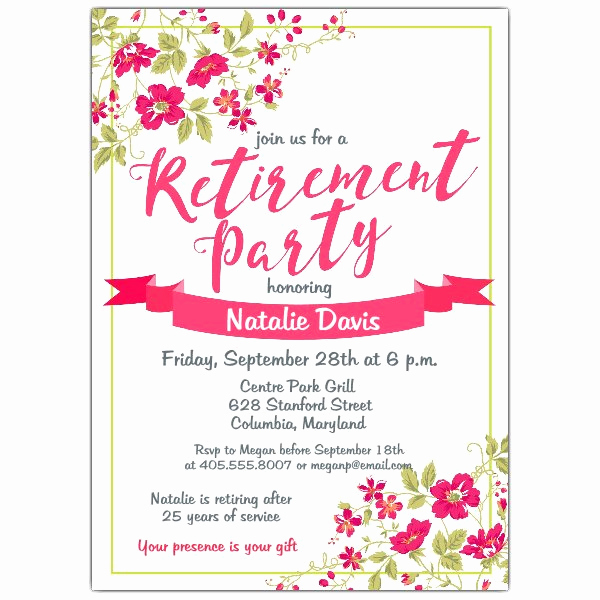 Invitation for Retirement Party Unique Whitley Retirement Party Invitations