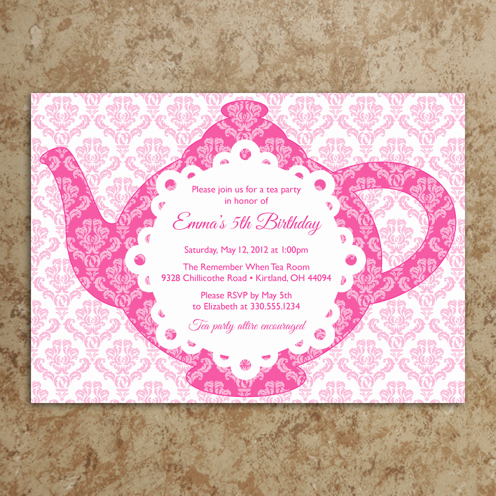 Invitation for Tea Party Awesome Tea Party Invitation Diy Printable Pdf Tea by Designswithstyle