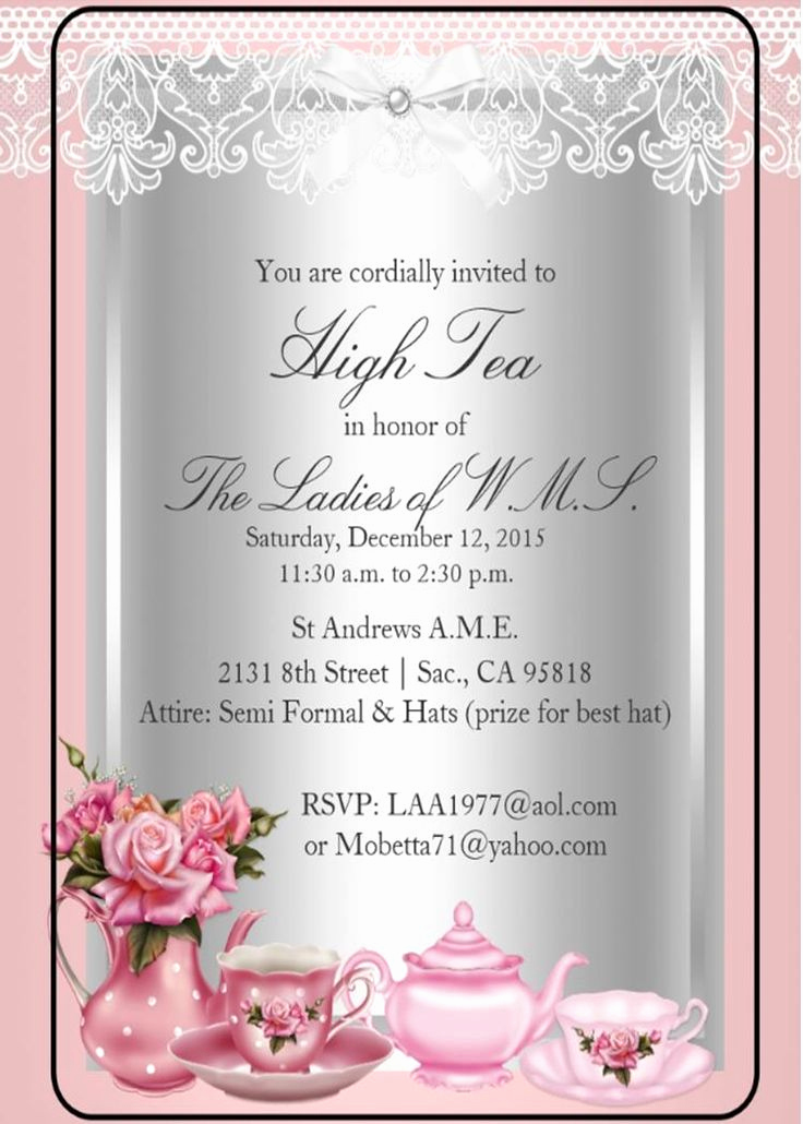 Invitation for Tea Party Fresh 1000 Ideas About High Tea Invitations On Pinterest