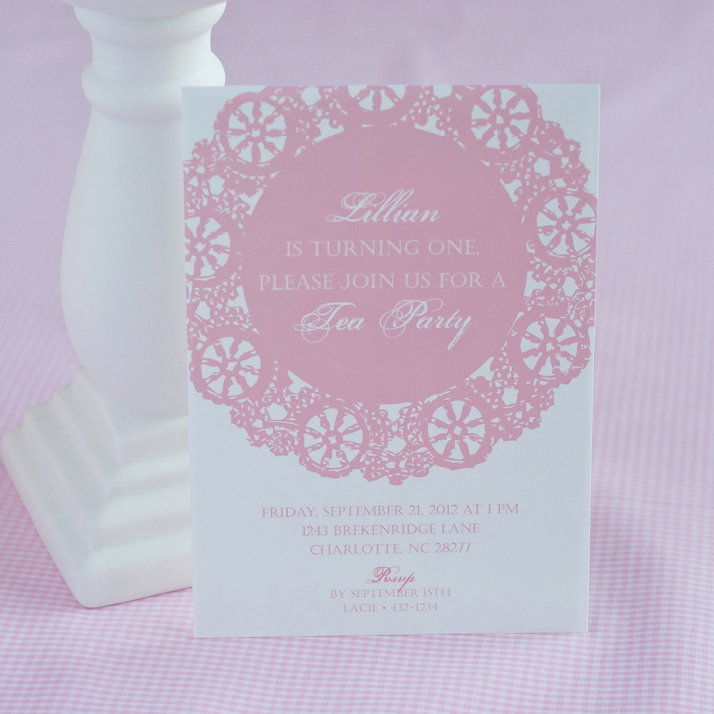 Invitation for Tea Party Fresh A Stunning Doily Tea Party by Kiss with Style anders