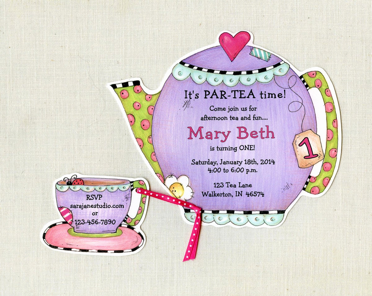 Invitation for Tea Party Fresh Personalized Tea Party Invitations Teapot by Artfullyinvited