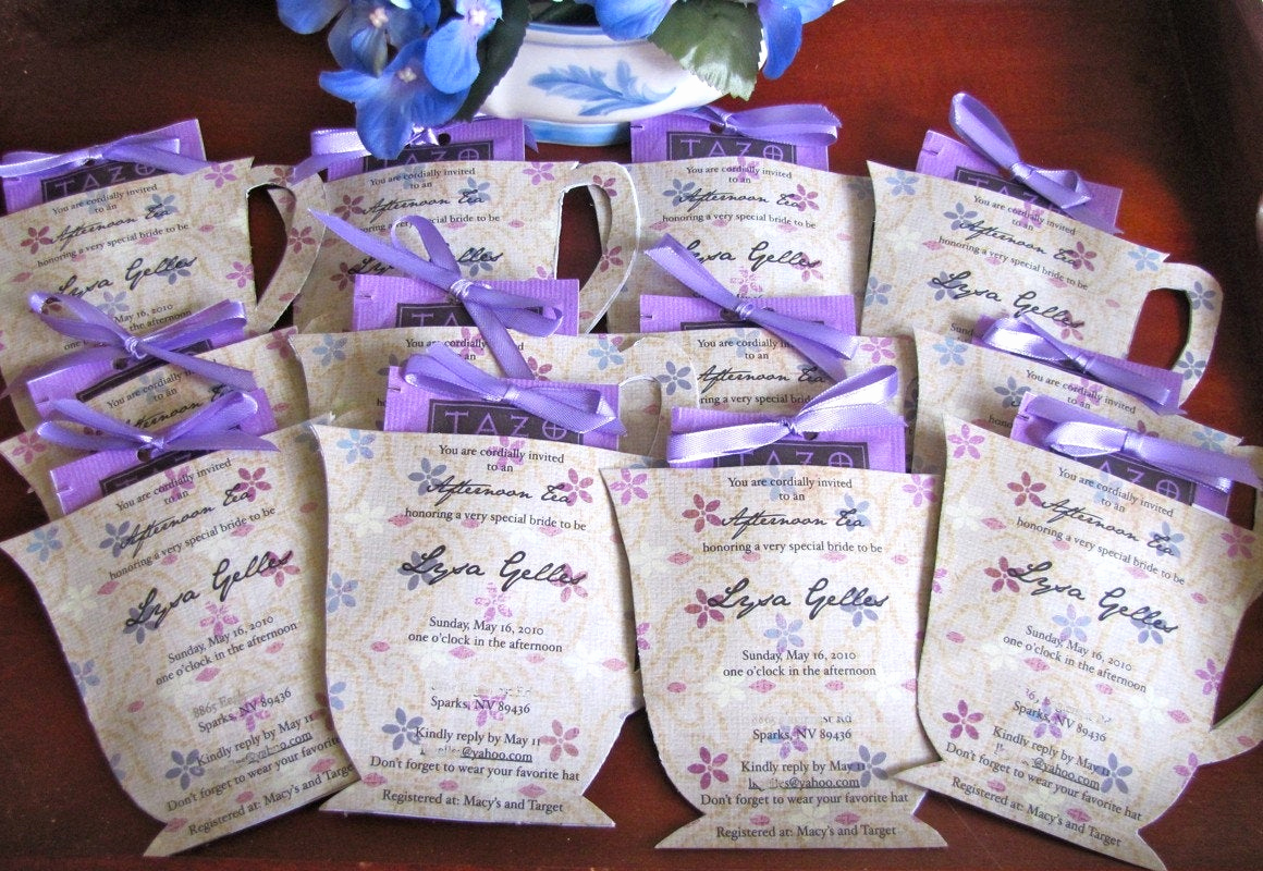 Invitation for Tea Party Lovely Custom Listing for Ljaunich Tea Cup Shaped Party Invitation