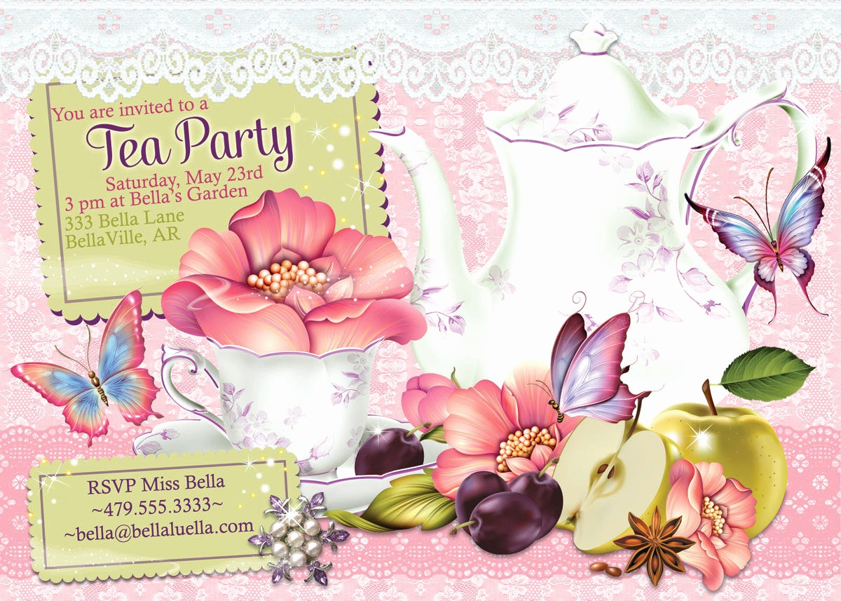 Invitation for Tea Party Lovely Tea Party Invitation Tea Parties Bridal Tea Party