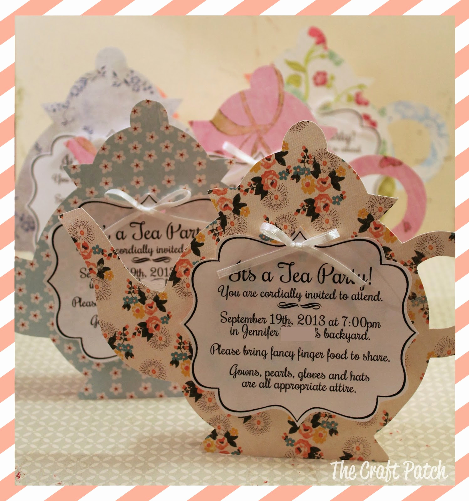 Invitation for Tea Party New A Tea Party thecraftpatchblog