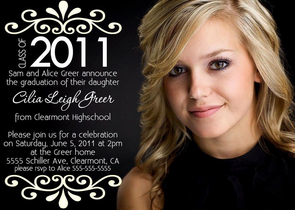 Invitation Ideas for Graduation Inspirational High School Graduation Announcements Google Search