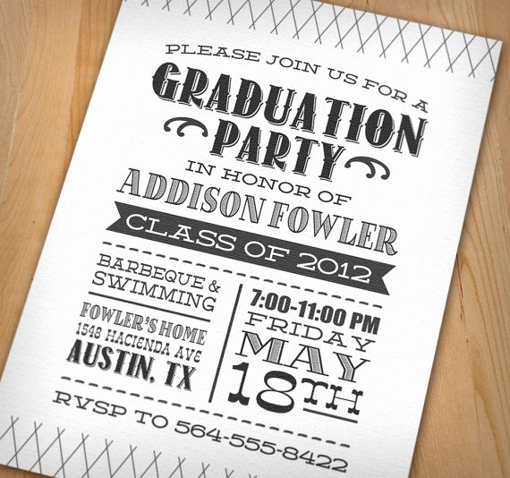Invitation Ideas for Graduation New Unique College Graduation Party Ideas