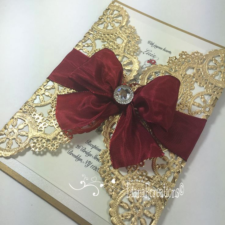 Invitation Ideas for Quinceanera Awesome Elegant Red and Gold Quinceanera Invitation Idea