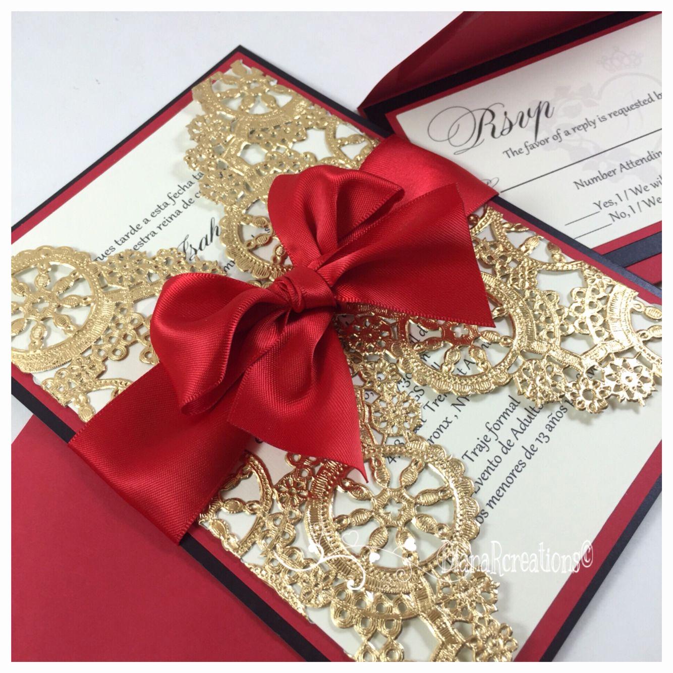 Invitation Ideas for Quinceanera Elegant Queens Of Heart Sweet Sixteen Invitations ️