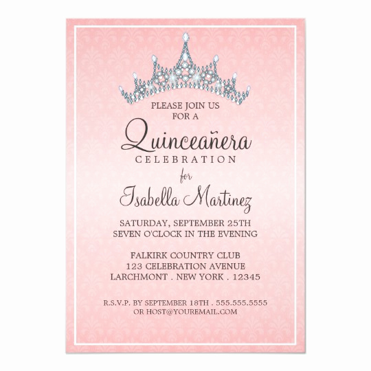 Invitation Ideas for Quinceanera Luxury Glam Tiara Quinceanera Celebration Invitation