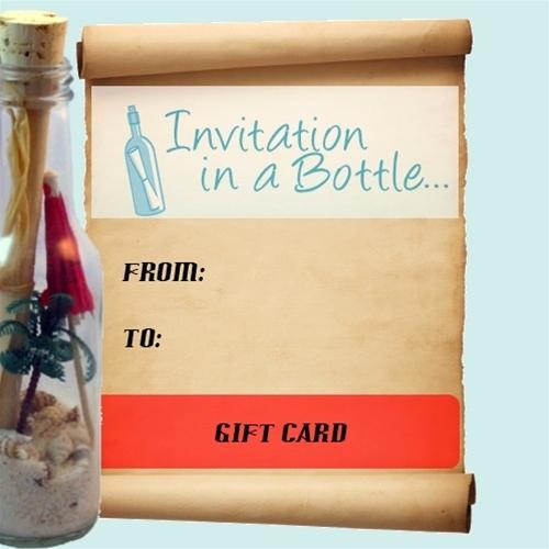 Invitation In A Bottle Fresh Invitation In A Bottle Gift Certificate