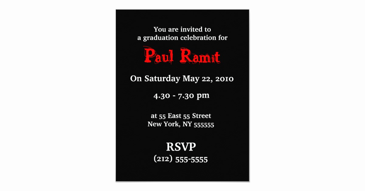 Invitation Inserts for Graduation Party Best Of Head Shot Insert Graduation Party Invitation