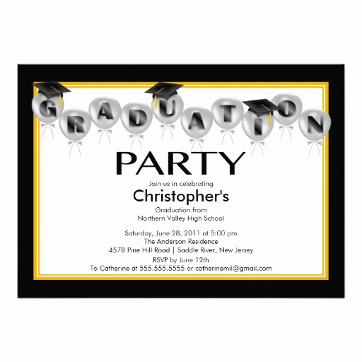 Invitation Inserts for Graduation Party Elegant How to Create Graduation Party Invitation
