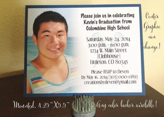 Invitation Inserts for Graduation Party Inspirational Graduation Party Announcements or Inserts with Photo Perfect