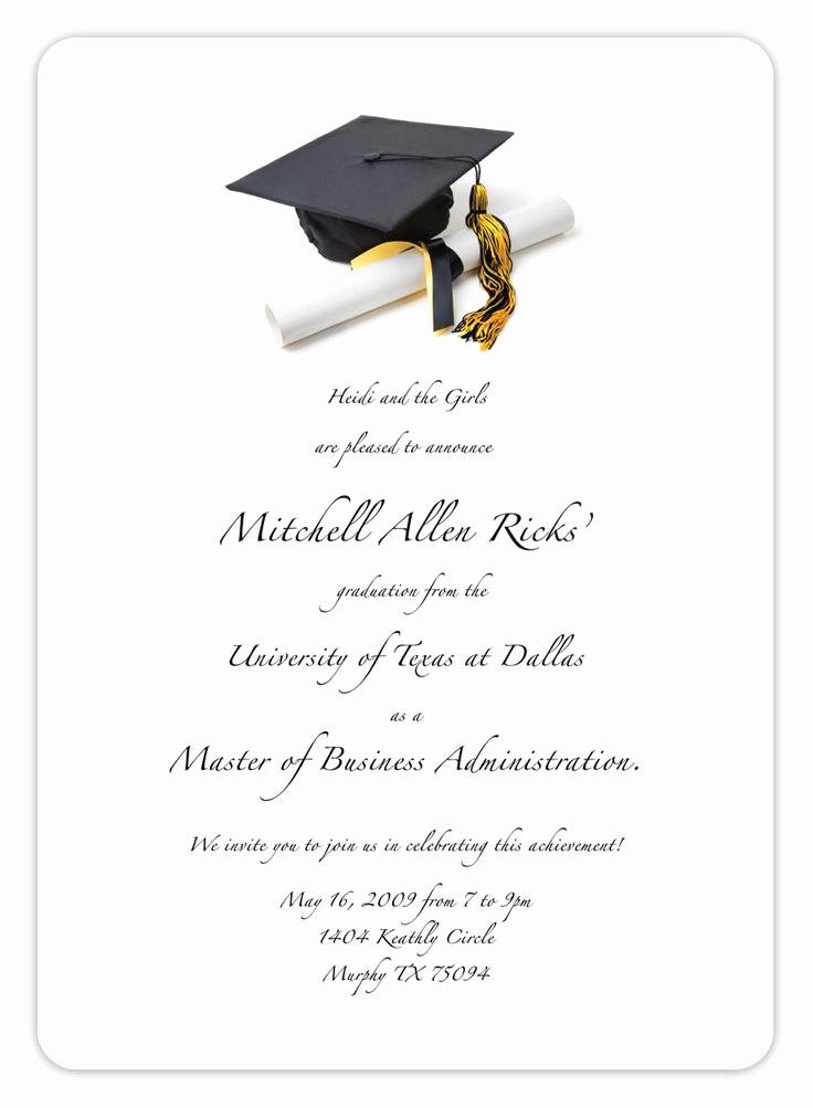 Invitation Inserts for Graduation Party Luxury Best 25 Graduation Invitation Templates Ideas On