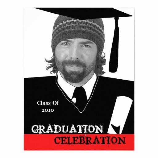 """Invitation Inserts for Graduation Party Unique Head Shot Insert Graduation Party Invitation 4 25"""" X"""