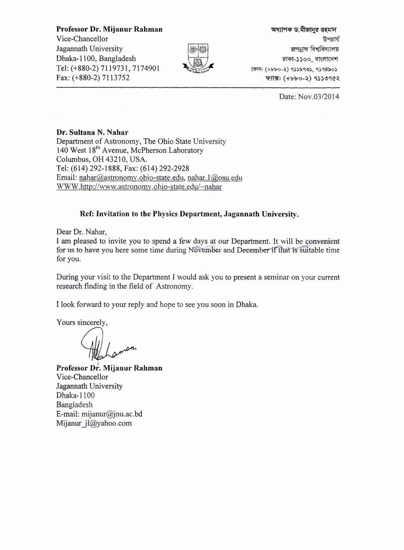 Invitation Letter for Speaker Luxury Invitation Letter for Chief Guest Seminar