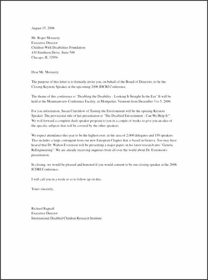 Invitation Letter for Speaker New 8 formal Invitation Letter for Guest Speaker