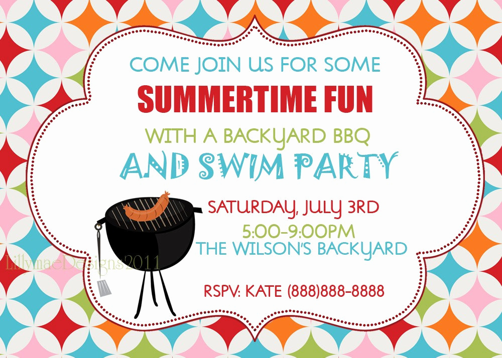 Invitation Message for Party Awesome Barbecue Invitation Backyard Bbq Summer Party Invitation