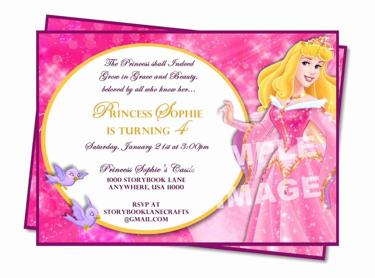 Invitation Message for Party Awesome Sample Princess Birthday Invitation Wording