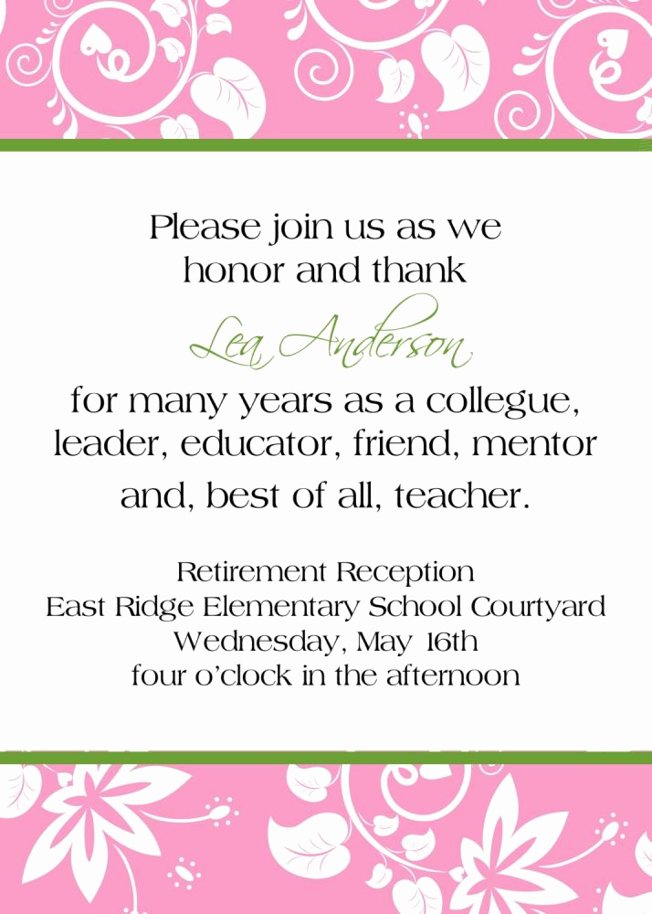 Invitation Message for Party Beautiful 14 Great Retirement Party Invitations