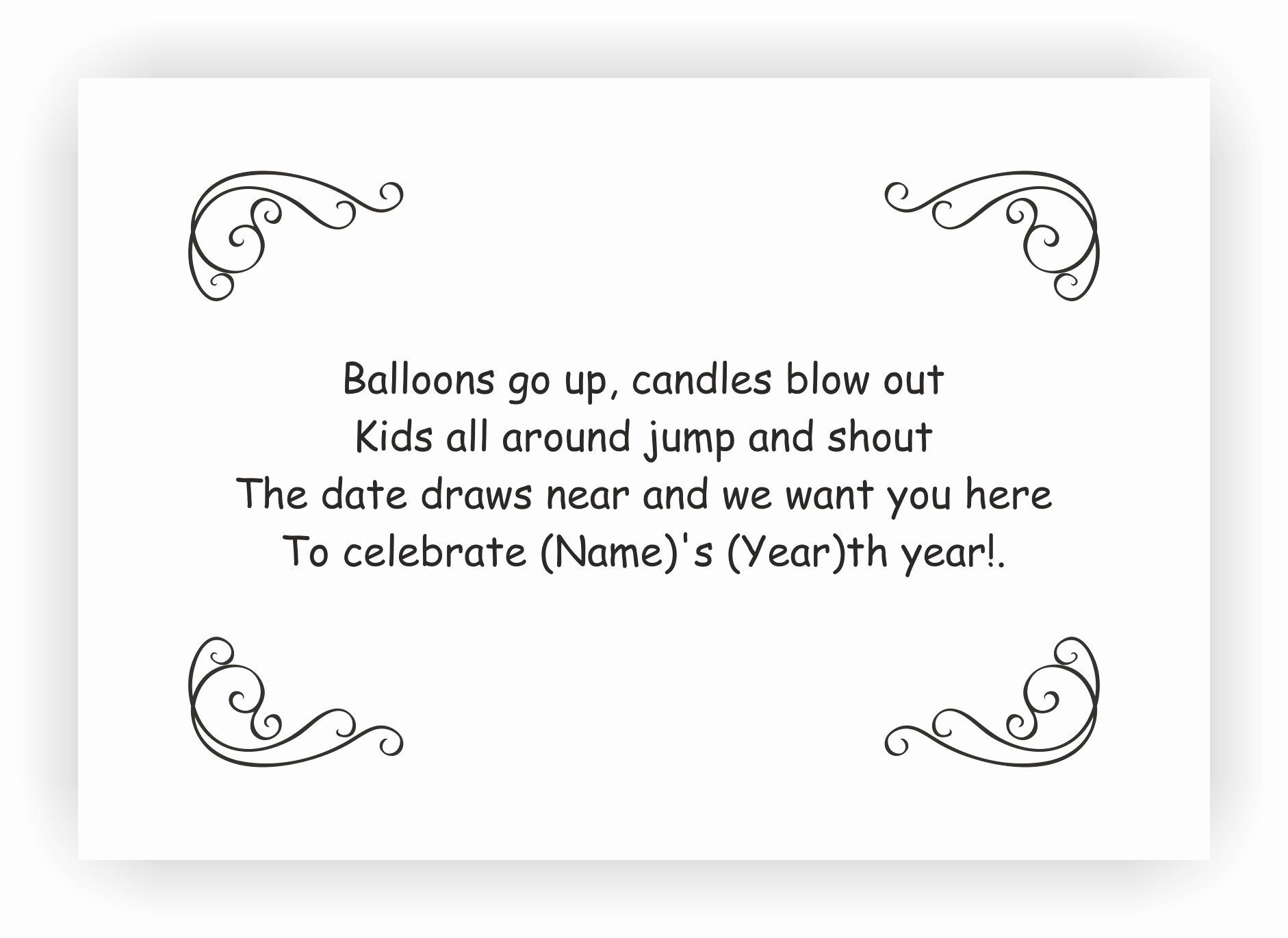 birthday invitations messages