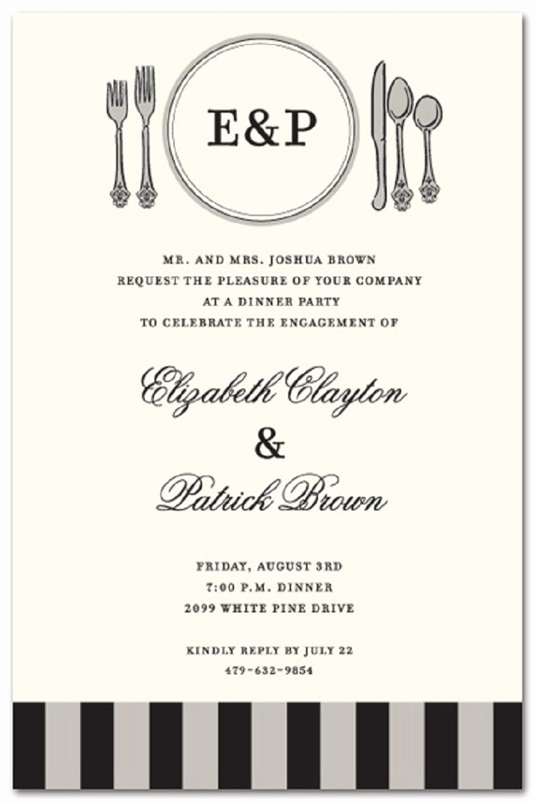 Invitation Message for Party Elegant formal Party Invitation Wording