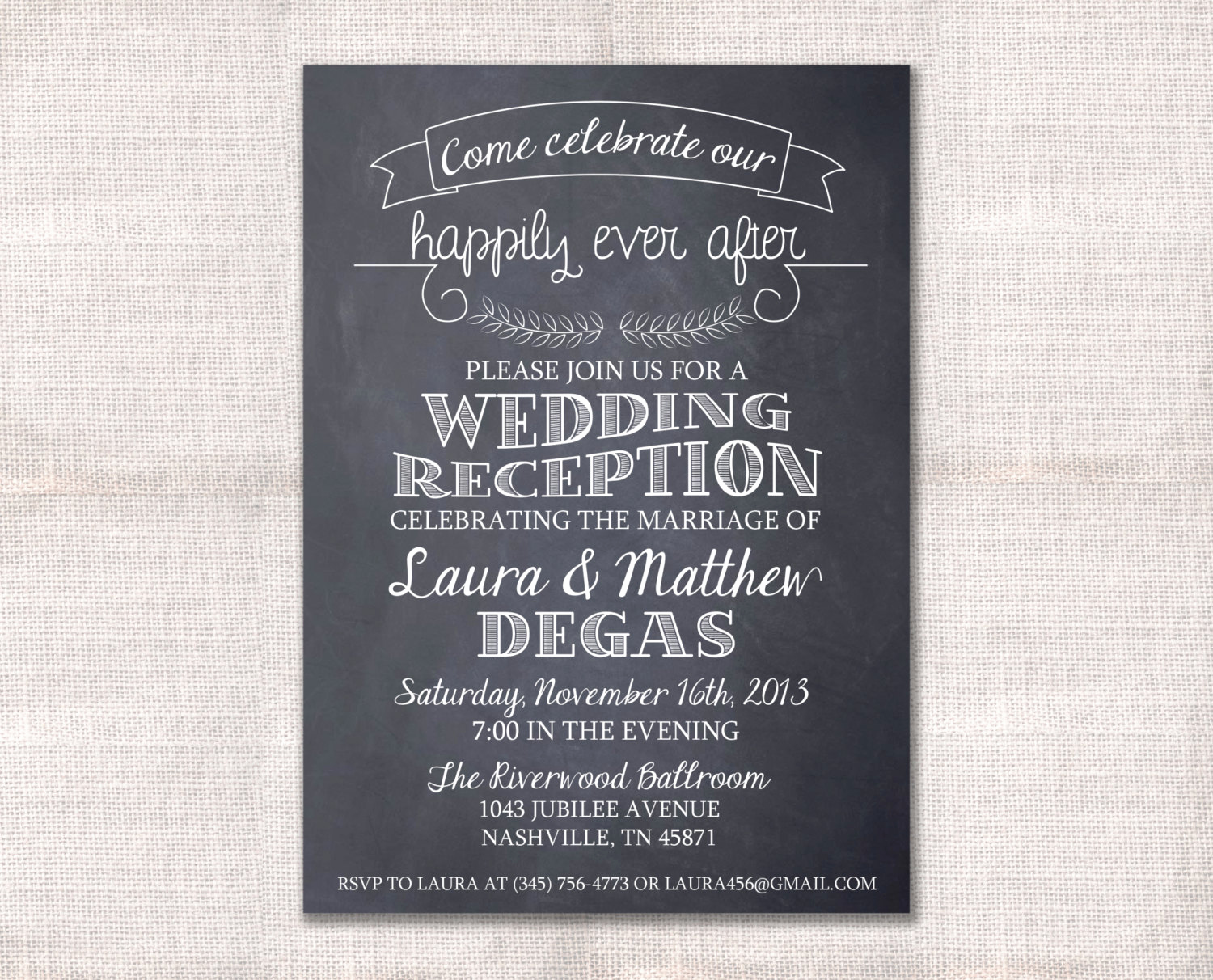 Invitation Message for Party Fresh Wedding Reception Celebration after Party Invitation Custom