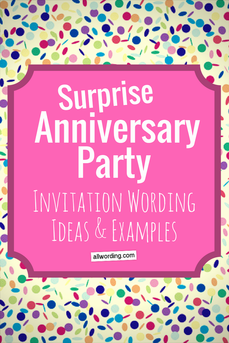 Invitation Message for Party Lovely Surprise Anniversary Party Invitation Wording