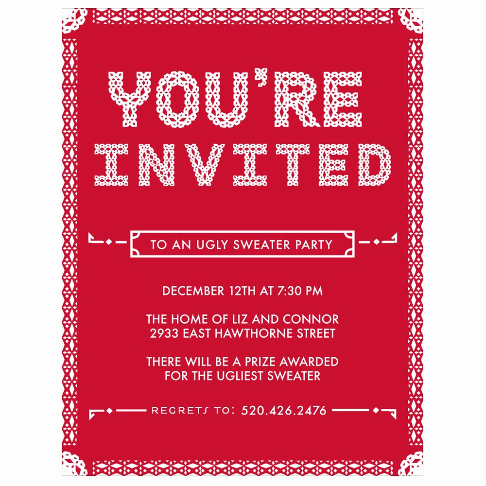 Invitation Message for Party Unique Particular Pattern Holiday Party Invitations