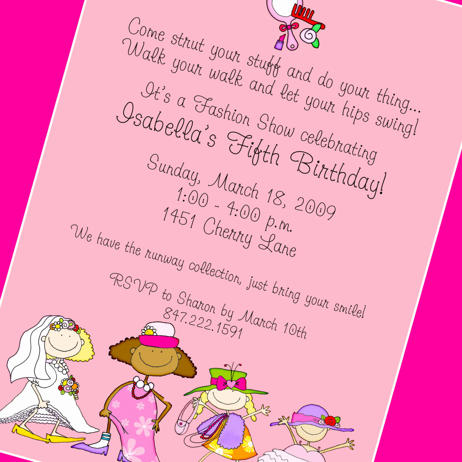 dress up party invitation custom wording