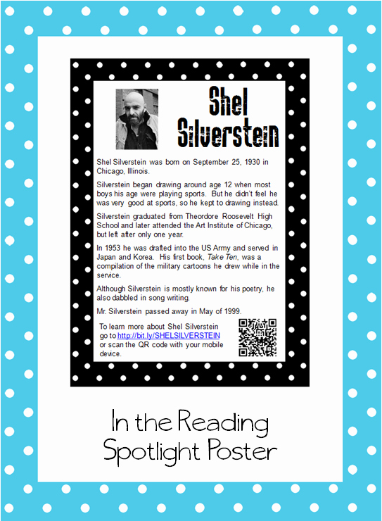 Invitation Shel Silverstein Poster Unique the Book Bug Freebies
