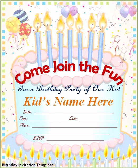 Invitation Template Google Docs New Birthday Invitation Template Google Docs – Lomer