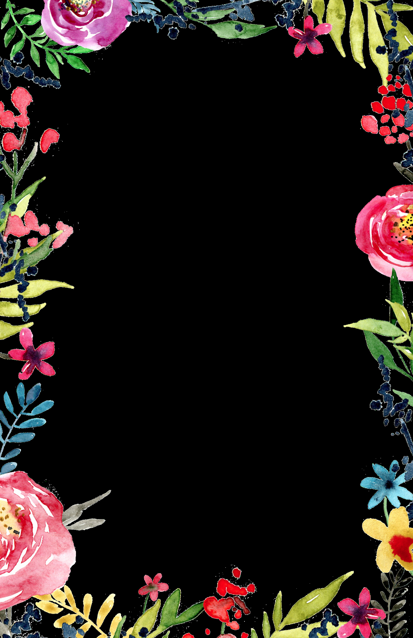 Invitation Templates for Word Beautiful Floral Borders Invitations Free Printable Invitation