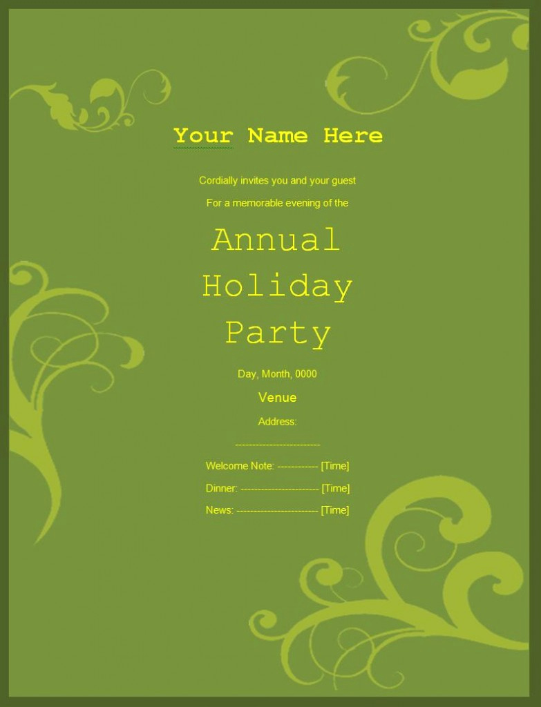 Invitation Templates for Word Best Of 10 Party Invitation Templates