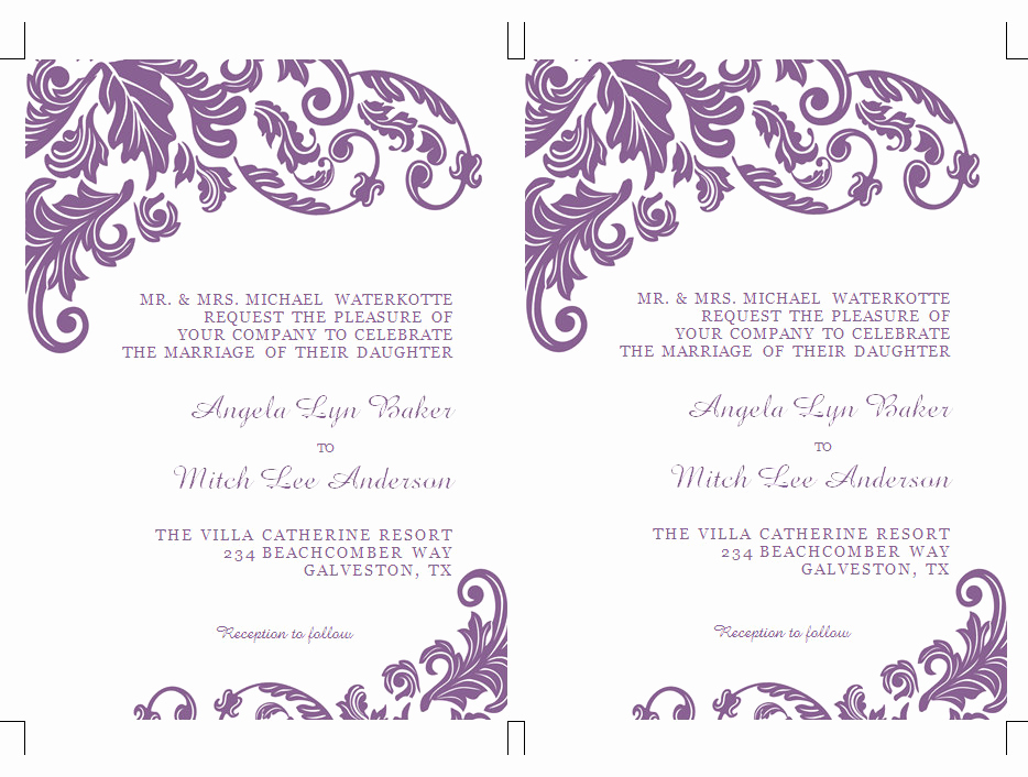 Invitation Templates for Word Elegant Word Design Gallery Category Page 1 Designtos