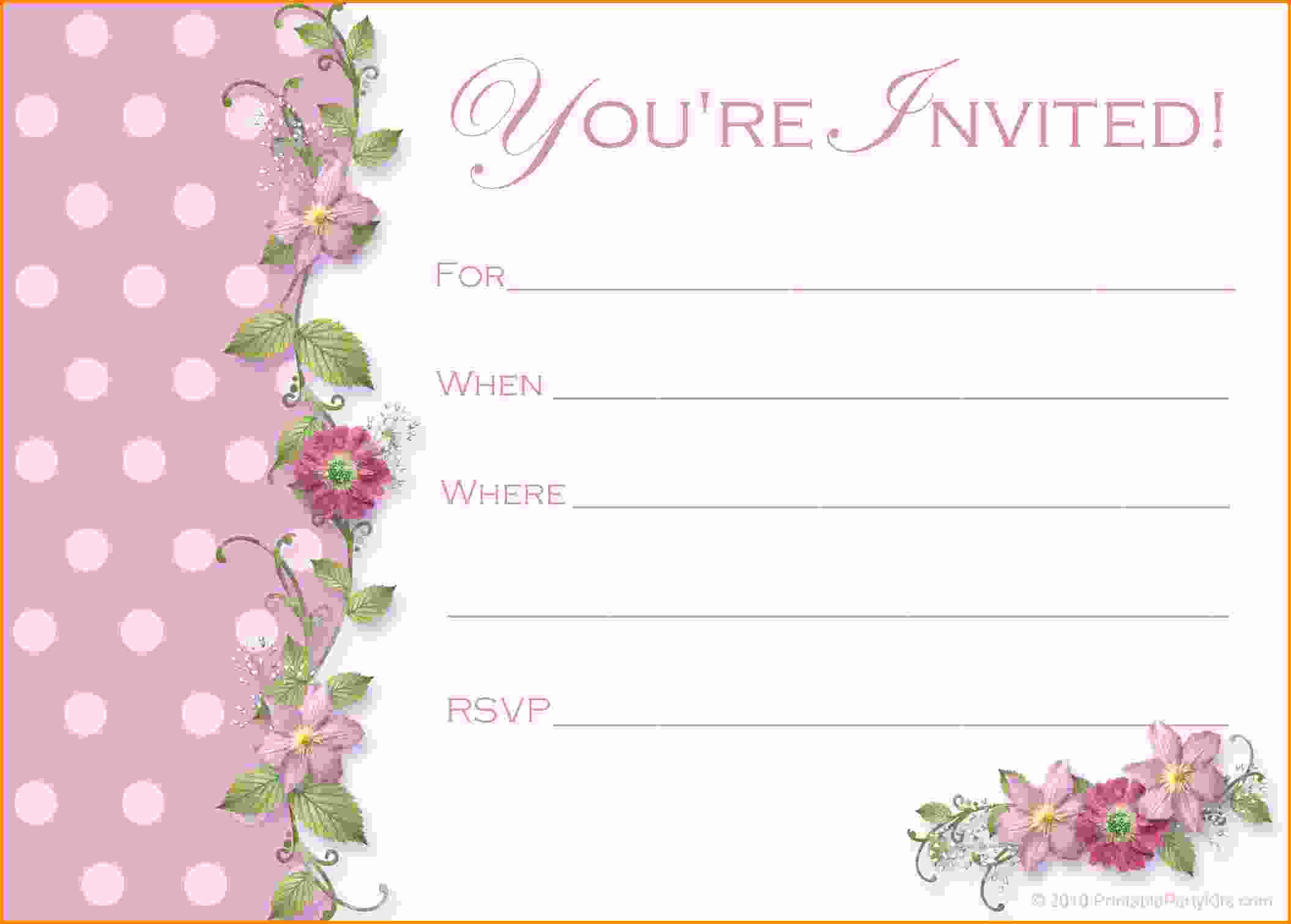 Invitation Templates for Word Inspirational Free Party Invitation Templates Word