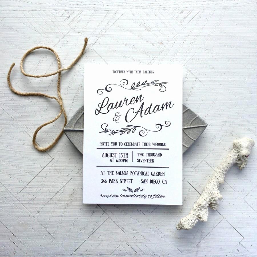 Invitation Templates for Word Luxury Printable Wedding Invitation Template Rustica Instant