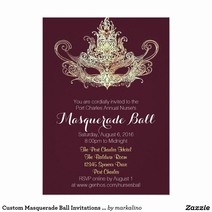 Invitation to A Ball Awesome Custom Masquerade Ball Invitations Wine Color