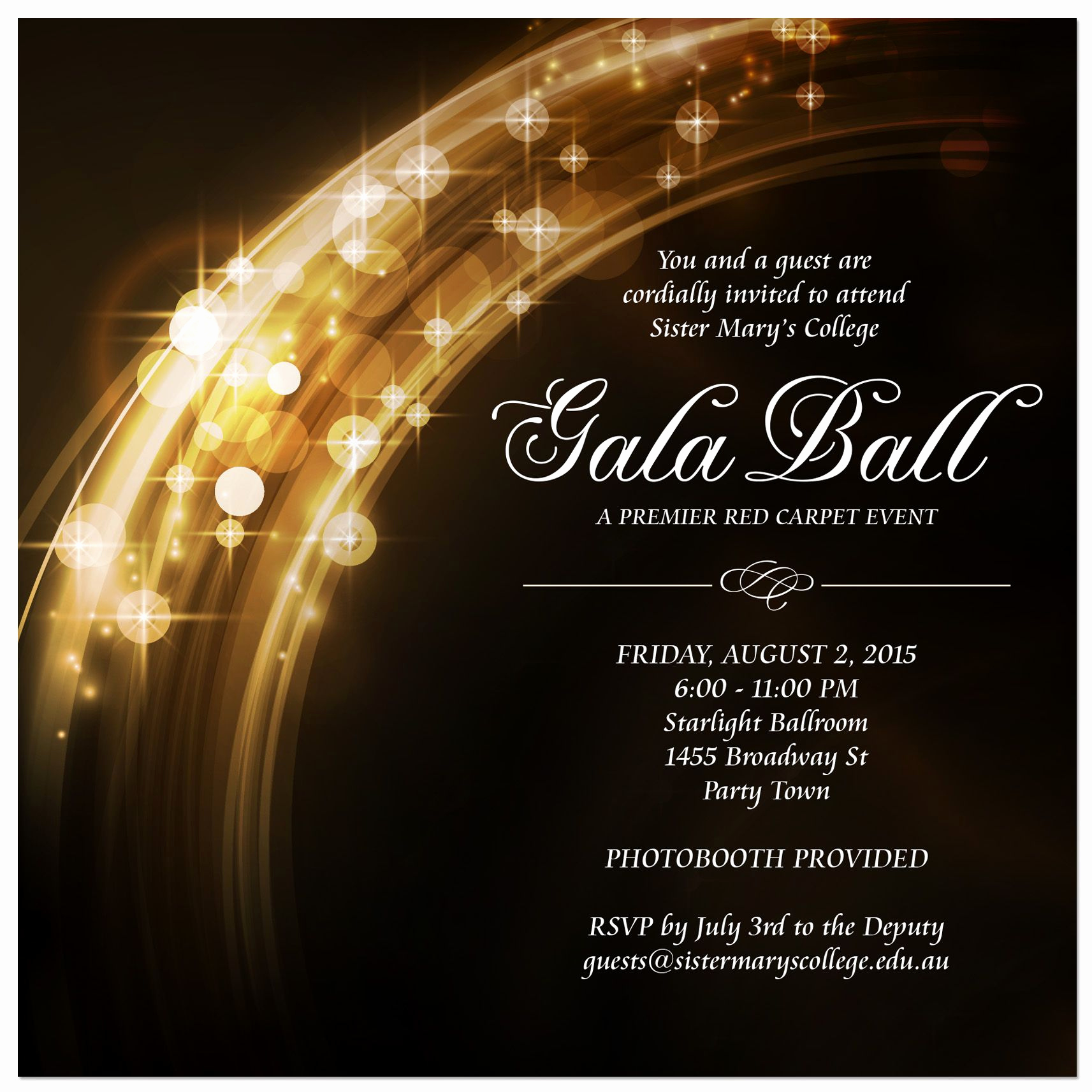 Invitation to A Ball Awesome School formal Invitations From Paper Divas From Only $1