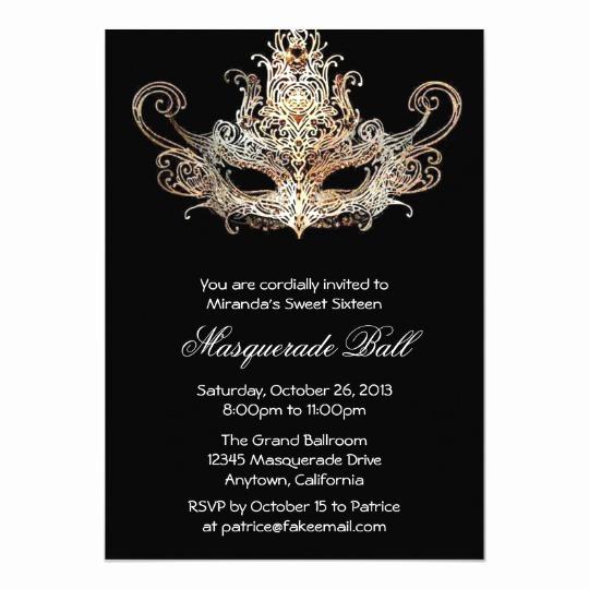 Invitation to A Ball Best Of Custom Sweet Sixteen Masquerade Ball Invitations