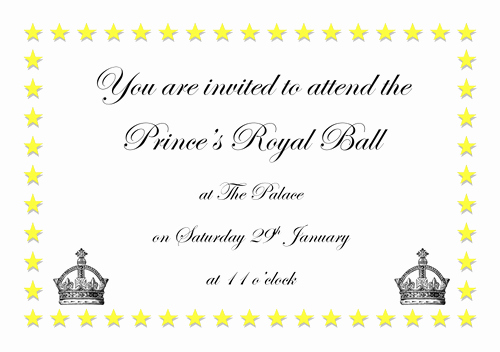Invitation to A Ball Best Of Royal Ball Invitation Cinderella by Graceteach