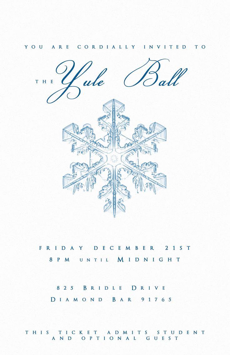 Invitation to A Ball Elegant Best 20 Yule Ball Ideas On Pinterest