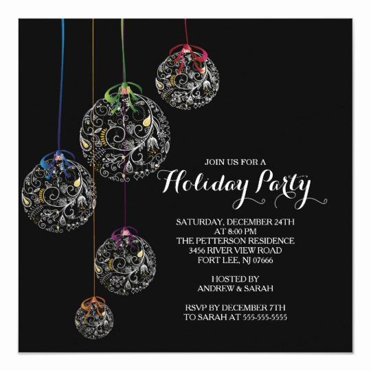 Invitation to A Ball Fresh Elegant Christmas Ball Holiday Party Invitation