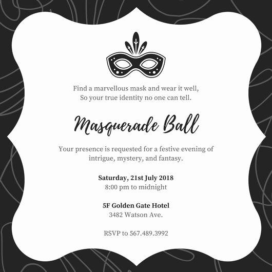 Invitation to A Ball Lovely Customize 148 Masquerade Invitation Templates Online Canva