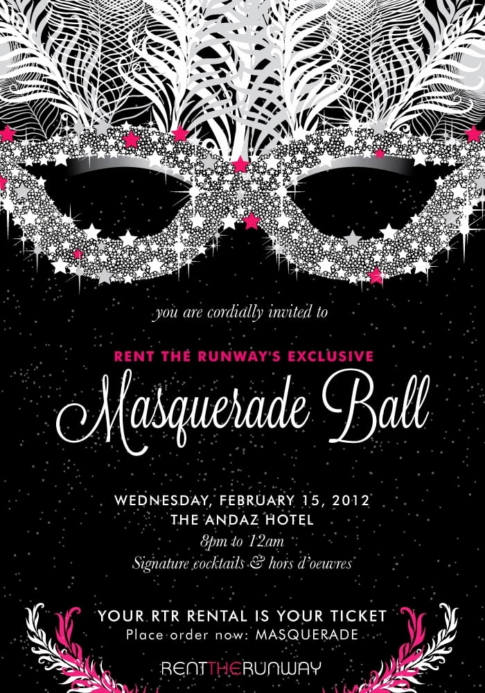 Invitation to A Ball Lovely Masquerade Ball Invitation