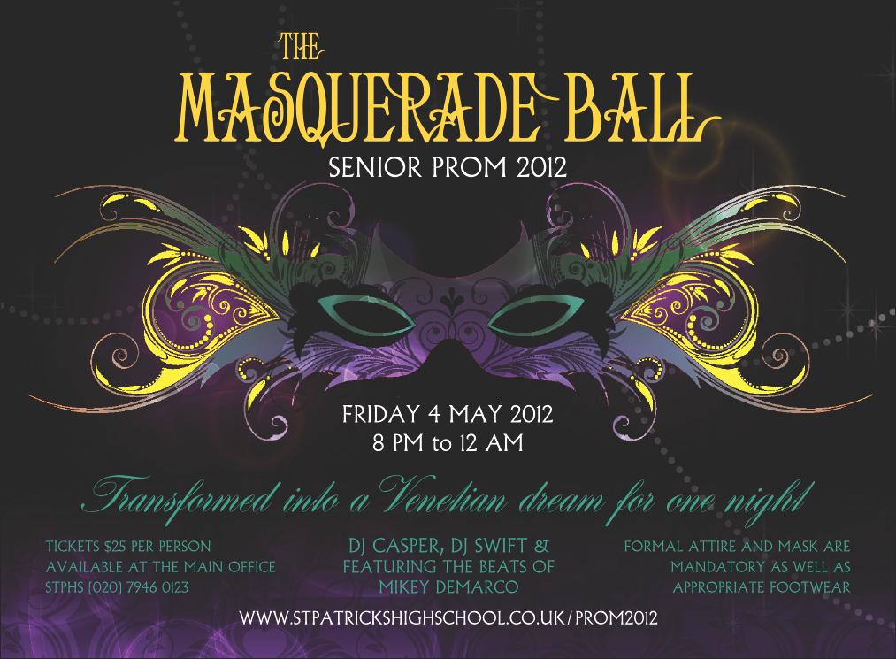 Invitation to A Ball Luxury Masquerade Ball Invitation