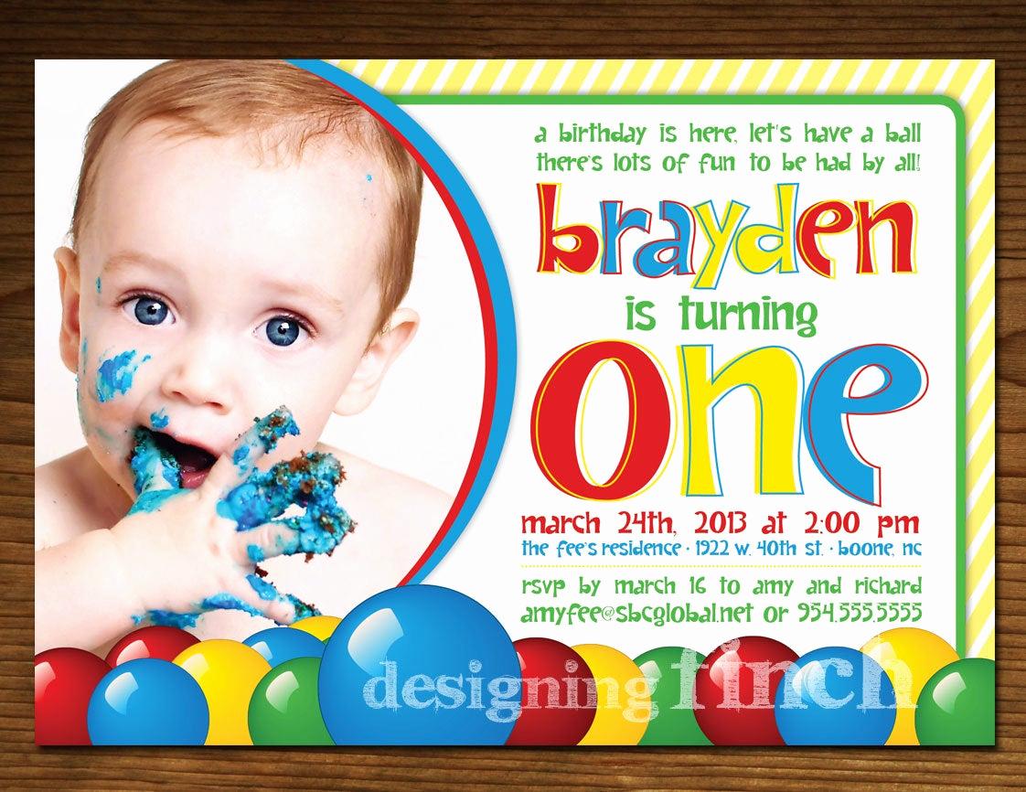 Invitation to A Ball New Ball Pit Birthday Invitation Printable Customized 46