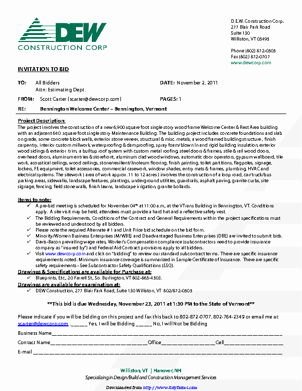 Invitation to Bid Template Beautiful Pdf forms Archive Page 2160 Of 2893 Pdfsimpli