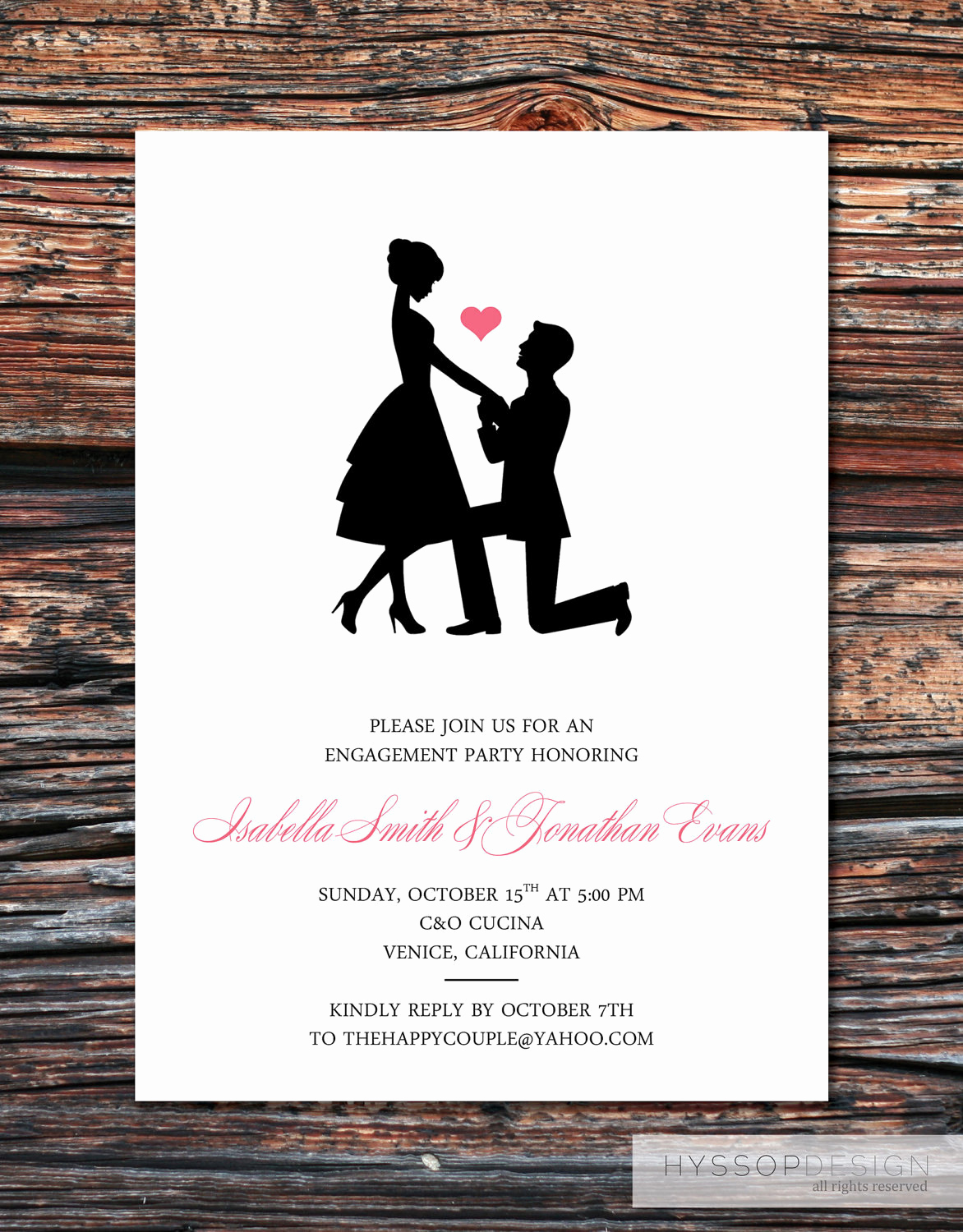 Invitation to Bid Template Elegant Printable Diy Sweet Silhouette Proposal by Hyssopdesign On